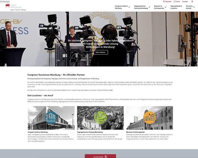 Abb. Neues B2B-Portal für MICE-Events in Würzburg